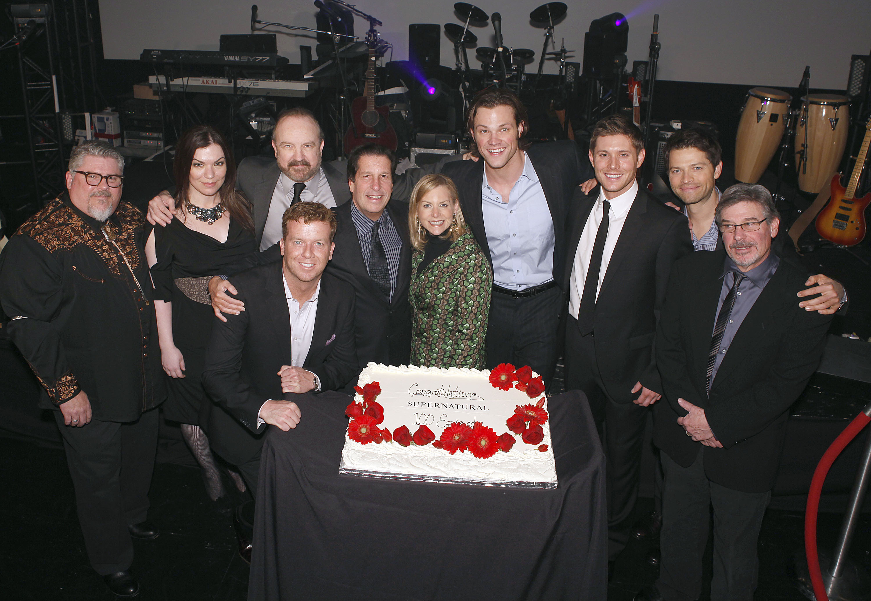 Supernatural 100th Episode Party jared padalecki and jensen ackles 34245306 3000 2071